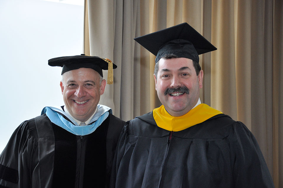 Dean Issac Herskowitz with Student Speaker, Ted White